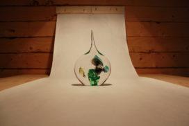 Glaswerk in boom