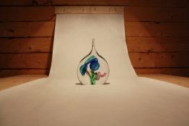Detail glas decoratie