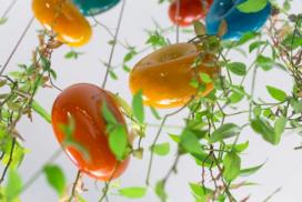 Hangdecoratie van glas